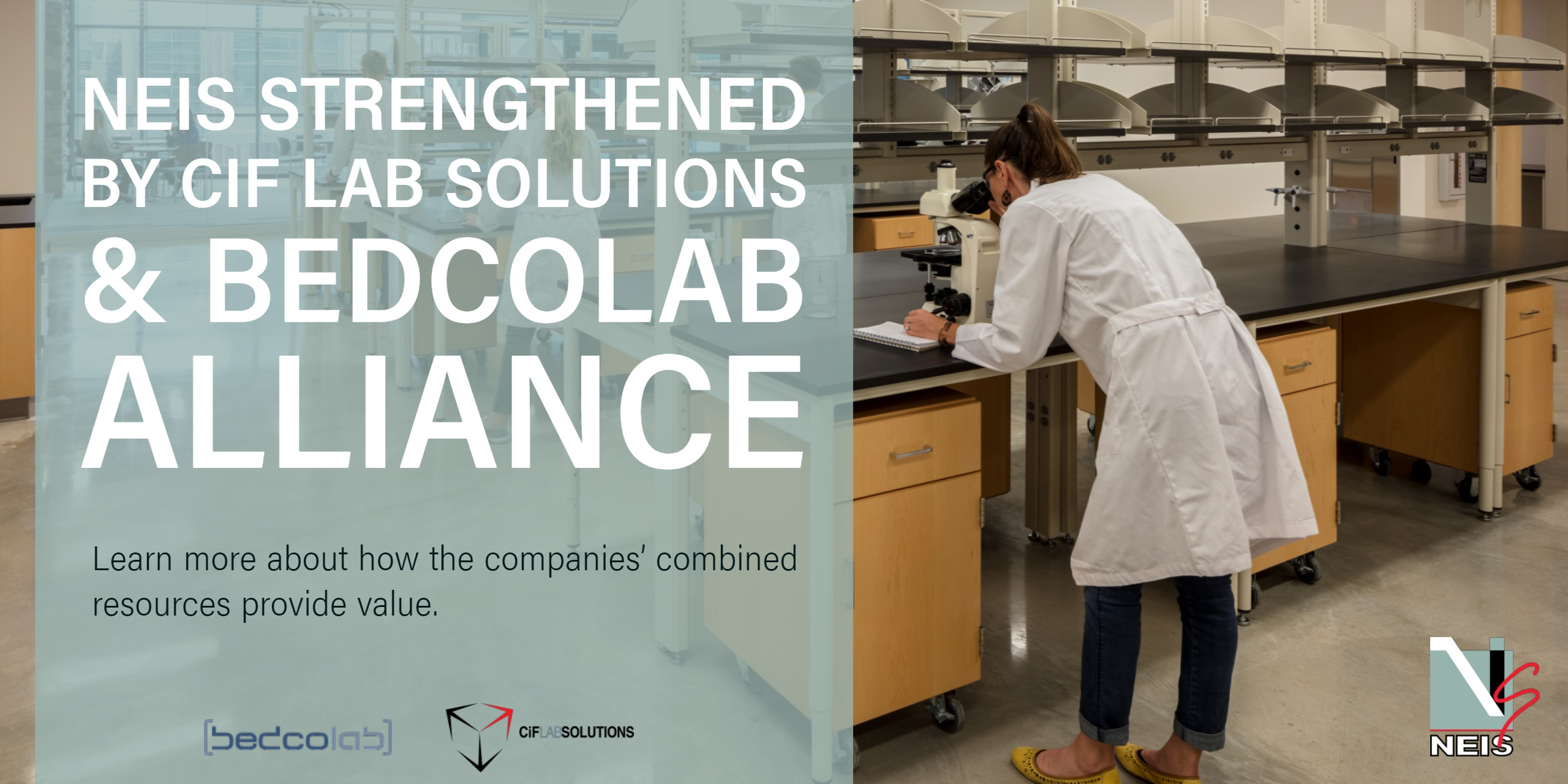 NEIS Strengthened by Bedcolab and CiF Lab Solutions Alliance
